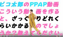 PPAP動画の制作予算