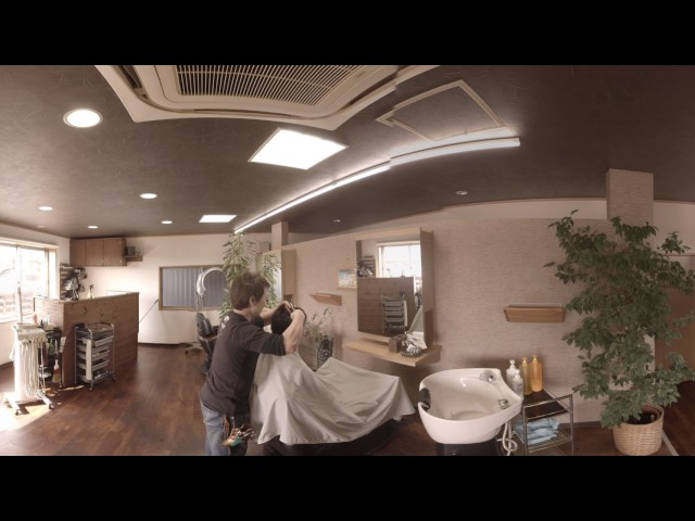VR動画制作(4K、8K対応) サンプル Hair Salon Mahalo様