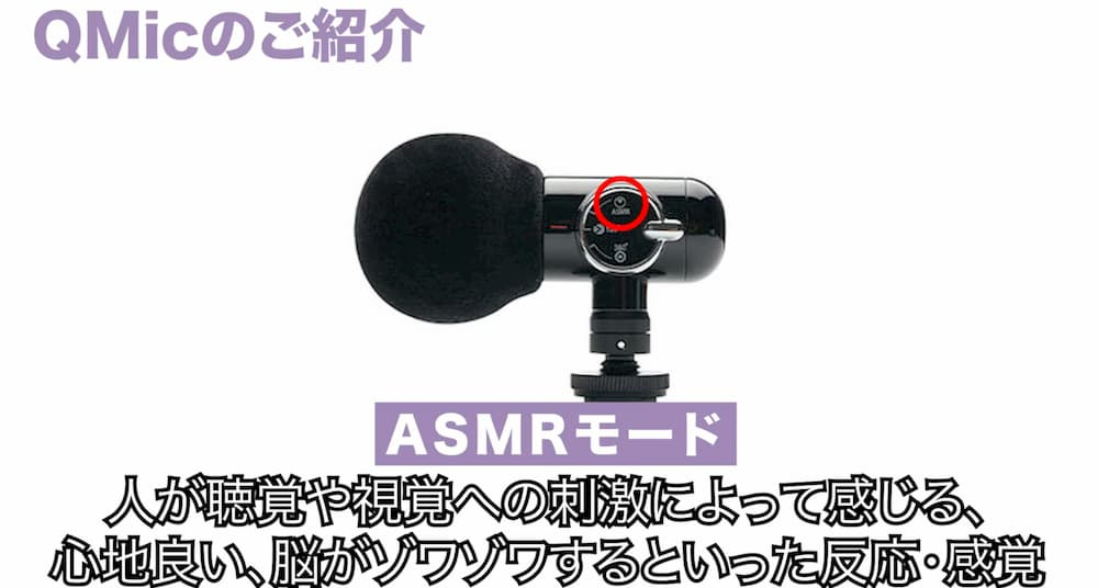 Q MicのASMRモード