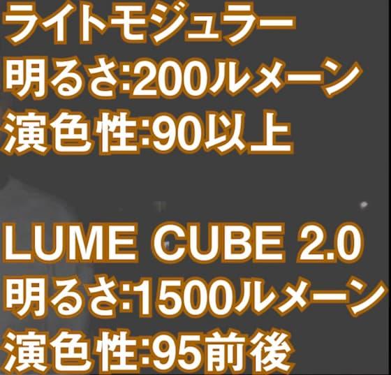 ライトモジュラーとLUME CUBE 2.0の違い
